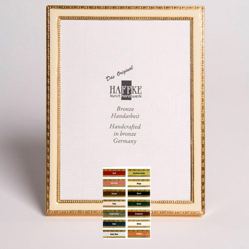 Haffke Bronze Enamel Picture Frame without Rose 2.5 x 3.5 Inch