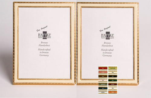 Haffke Bronze Enamel Double Picture Frame without Rose 4 x 6 Inch