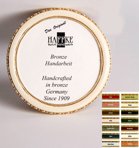Haffke Bronze Enamel Round Picture Frame without Rose 3 Inch