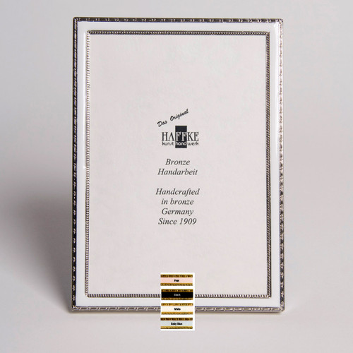 Haffke Silver Enamel Picture Frame without Rose 3 x 5 Inch