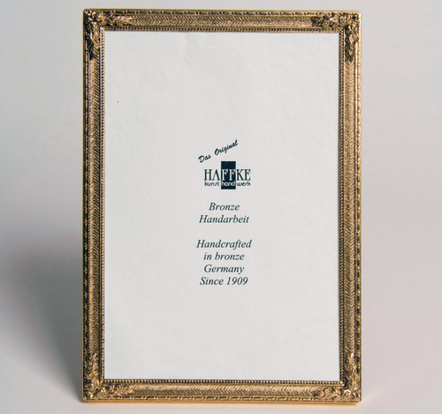 Haffke Bronze With Rose Picture Frame 3 x 5 Inch