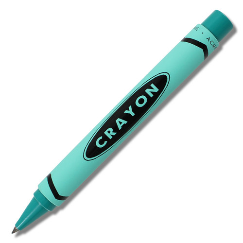 ACME Crayon - Teal Retractable Roller Ball By Adrian Olabuenaga