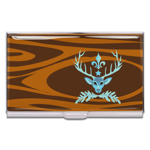 ACME Deer Prudence Business Card Case By Bev Hogue