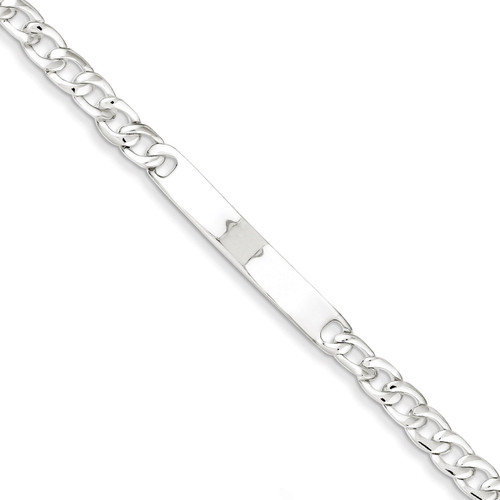 Baby ID Curb Link Bracelet Sterling Silver QG1145-6