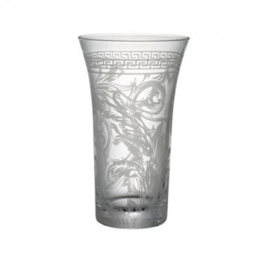 Versace Arabesque Vase Crystal 13 1/4 inch Amber