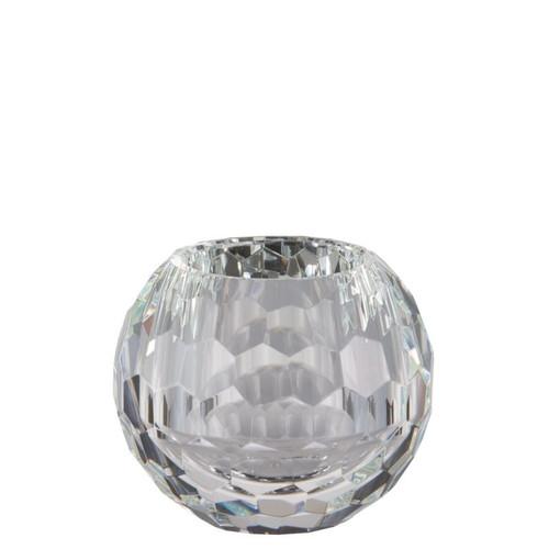 Rosenthal Facet Crystal  Vase Globe Shape 6 inch Tall