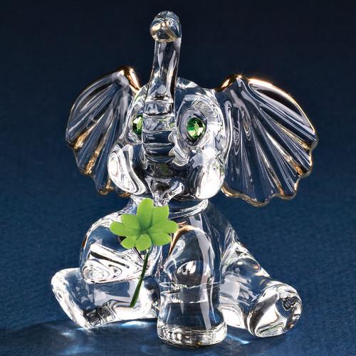 Good Luck Elephant Figurine Glass GP6052