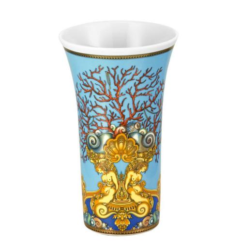 Versace La Mer Vase Porcelain 10 1/4 inch