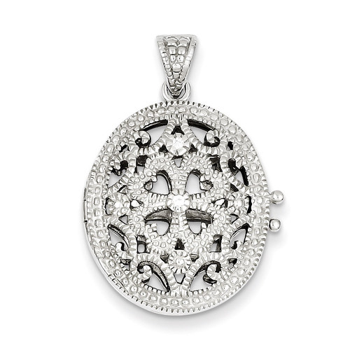 Diamond Locket Sterling Silver QP1454