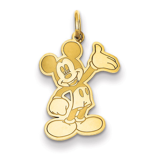 Disney Waving Mickey Charm 14k Gold WD118Y