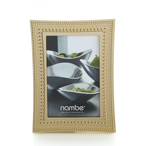 Nambe Beaded Gold Picture Frame  4 x 6 by Maureen Mctamney