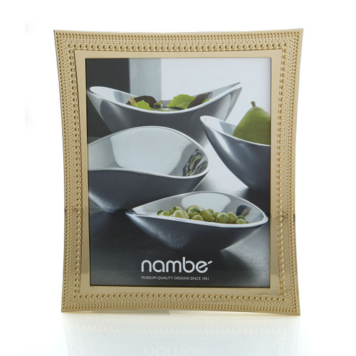 Nambe Beaded Gold Picture Frame  8 x 10 by Maureen Mctamney