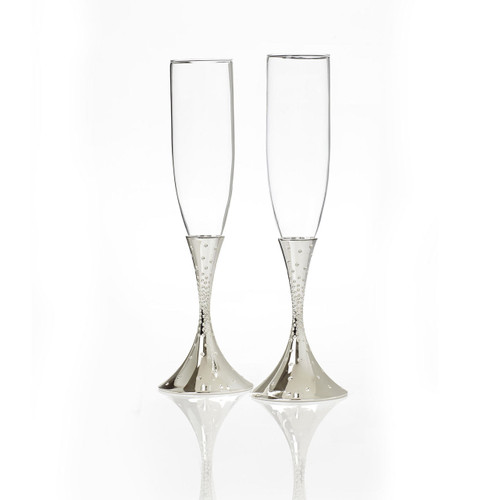 Nambe Dazzle Toasting Champagne Flutes Set of 2 by Scott And Torrie Morrison
