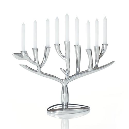 Nambe Tree of Life Menorah by Marilyn Davidson
