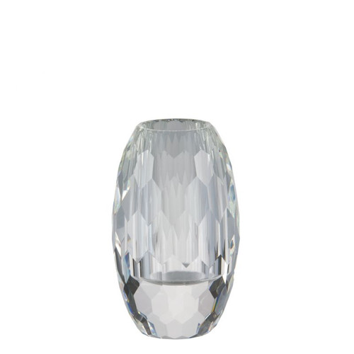 Rosenthal Facet Crystal  Vase Tall 7 3/4 inch Tall