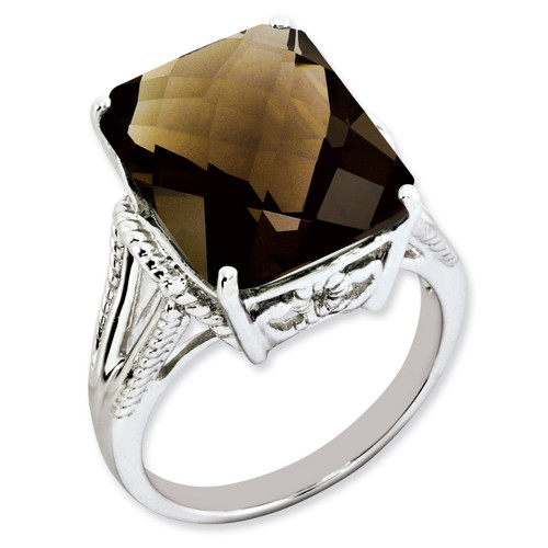 Smoky Quartz Ring Sterling Silver QR2953SQ