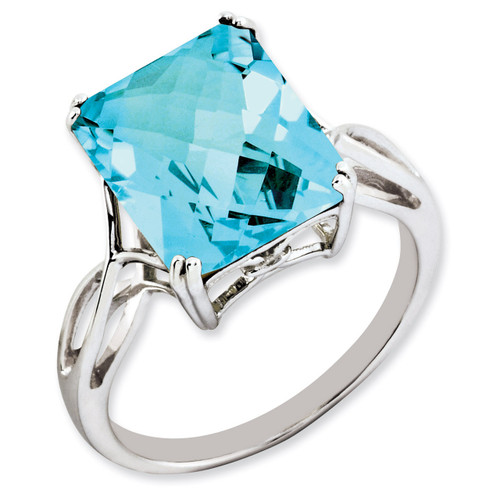 Blue Topaz Ring Sterling Silver QR2955BT