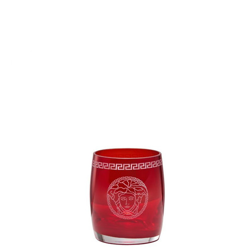 Versace Medusa Crystal Red Whisky Glass