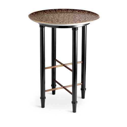 L'Objet Fortuny Side Table Ashanti Grey