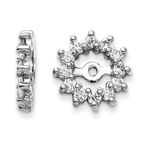 Earring Jacket 14k White Gold AAA Quality Diamond XJ2WAAA