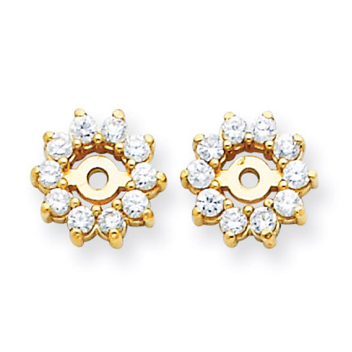 Diamond Earring Jacket Mountings 14k Gold XJ3