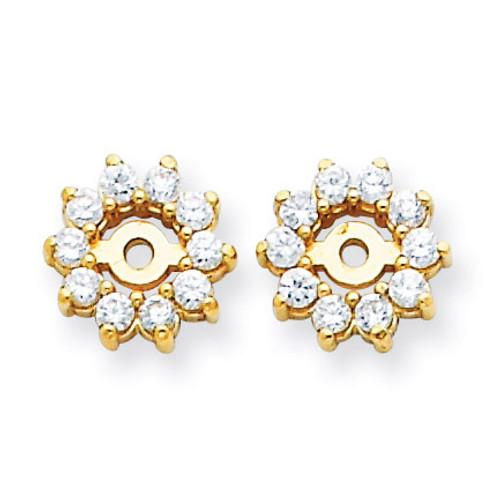 Diamond Earring Jacket Mountings 14k Gold XJ3
