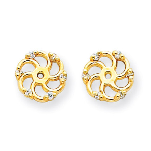 Diamond Earring Jacket Mountings 14k Gold XJ7