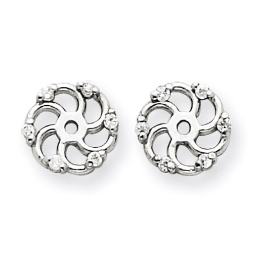 Diamond Earring Jacket Mountings 14k White Gold XJ7W