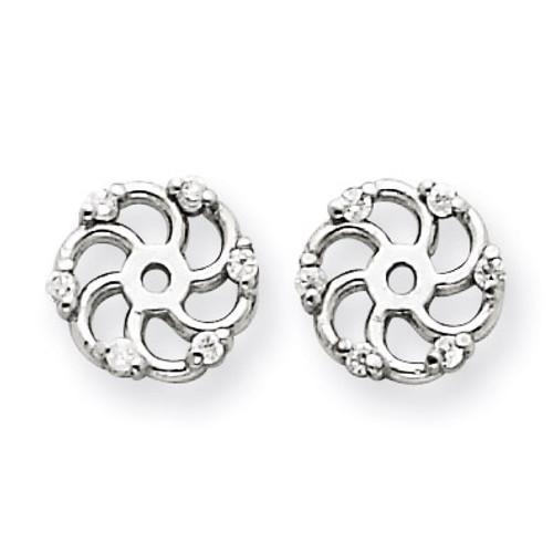 Diamond Earring Jacket Mountings 14k White Gold XJ7W