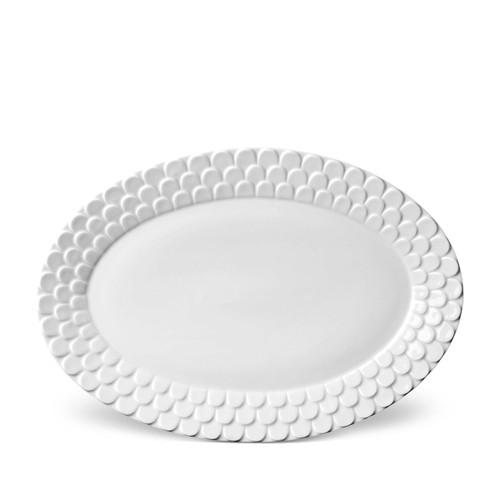 L'Objet Aegean Oval Platter White