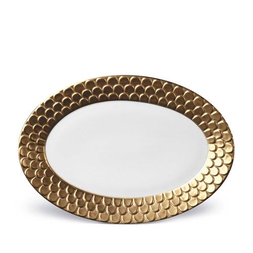 L'Objet Aegean Oval Platter Gold