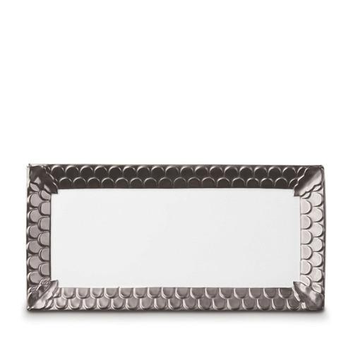 L'Objet Aegean Rectangular Platter Platinum
