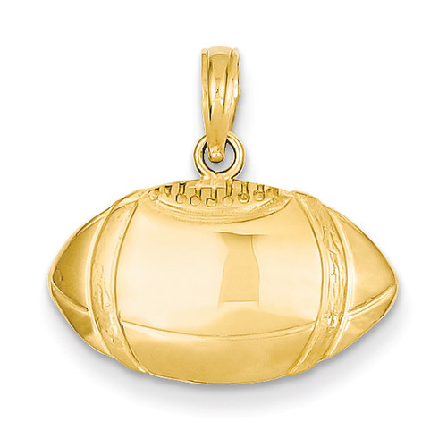 Football Profile Pendant 14k Gold C3769