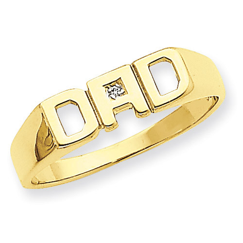 Squared Top Hollowed Out D Diamond DAD Ring Mounting 14k Gold Y1612