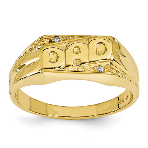 AA Diamond men's ring 14k Gold Y1616AA