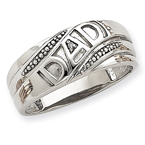 Dad Ring Mounting 14k White Gold Y6122