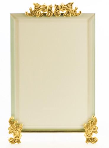 La Paris Acanthus 3.5 x 5 Inch Brass Picture Frame - Vertical