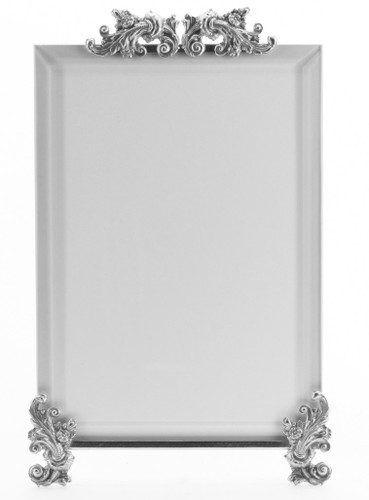 La Paris Acanthus 3.5 x 5 Inch Silver Plated Picture Frame - Vertical