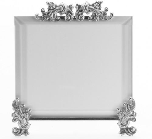 La Paris Acanthus 10 x 10 Inch Silver Plated Picture Frame