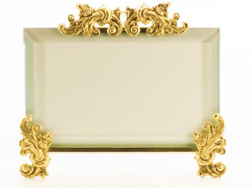 La Paris Acanthus 4 x 6 Inch Brass Picture Frame - Horizontal