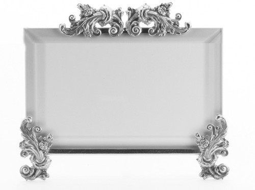 La Paris Acanthus 3.5 x 5 Inch Silver Plated Picture Frame - Horizontal
