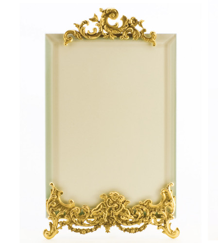 La Paris Angelique 5 x 7 Inch Brass Picture Frame - Vertical