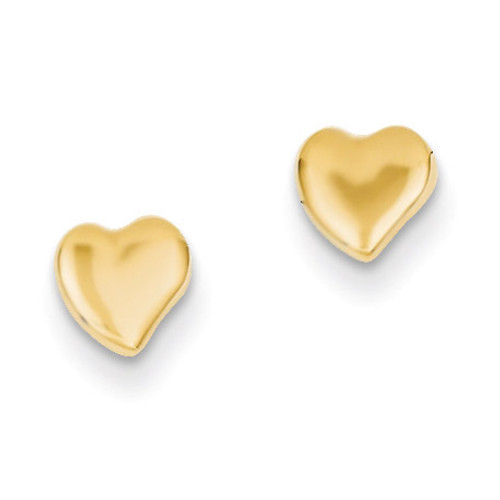 Heart Earrings 14k Gold YE301