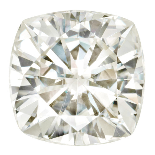 4.5 mm Sq Cush Moissanite Stone White MT-0450-CUF-WH