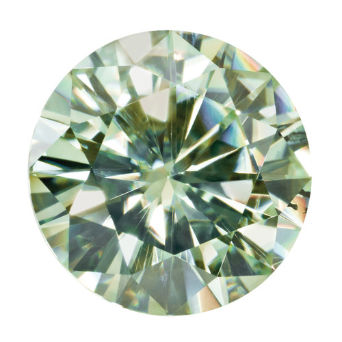 Light Green 6 mm Round Moissanite Stone MT-0600-RDF-GL
