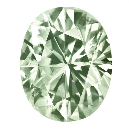Light Green 6X4 mm Oval Moissanite Stone MT-0604-OVF-GL