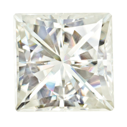 6.5 mm Square Brilliant Moissanite Stone White MT-0650-SQB-WH
