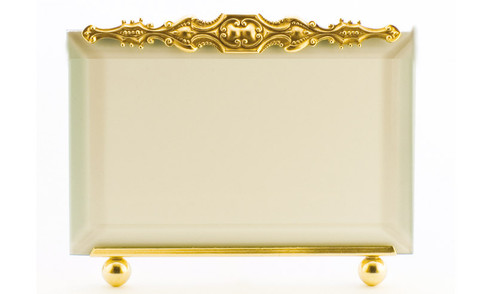 La Paris Brittany 5 x 7 Inch Brass Picture Frame - Horizontal