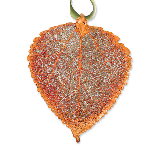 Aspen Decorative Leaf Iridescent Copper Dipped GM3859