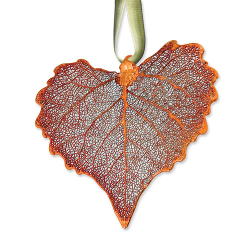 Cottonwood Decorative Leaf Iridescent Copper Dipped GM3865